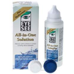 Płyn do soczewek kontaktowych EYE SEE All-in-One Solution Plus Hyaluronate - 100 ml