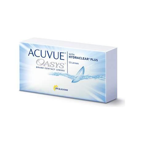 Soczewki kontaktowe Acuvue Oasys with Hydraclear Plus - 12 szt.