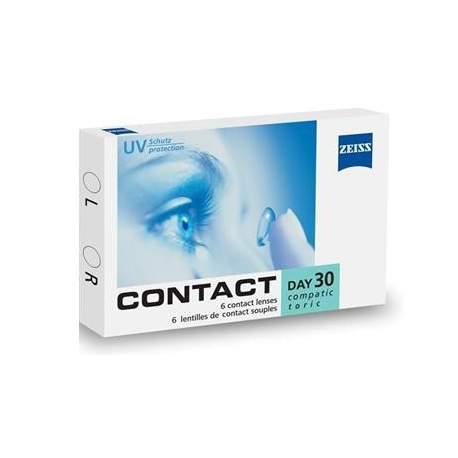 Soczewki kontaktowe Zeiss contact Day30 Compatic toric - 6 szt.