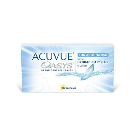 Soczewki kontaktowe Acuvue Oasys with Hydraclear Plus For Astigmatism - 6 szt.