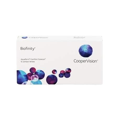 Soczewki kontaktowe Biofinity CooperVision - 6 szt.