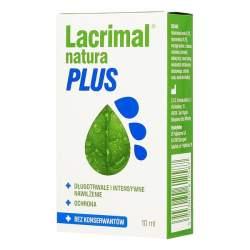 Lacrimal Natura Plus - krople do oczu, 10 ml - długotrwałe i intensywne nawilżenie.