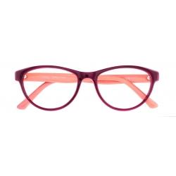 Lucy col. 2800 - front: fiolet/brzoskwiniowy, zausznik: brzoskwiniowy.