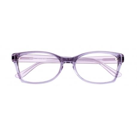 Nikki col. 1232 - front: szaro-fioletowy transparentny, zausznik: biały transparentny.