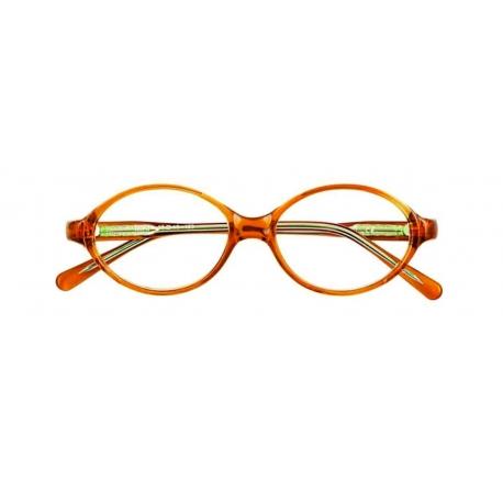 Miki col. 5000 - front: pomarańczowy transparentny, zausznik: pomarańczowy transparentny.