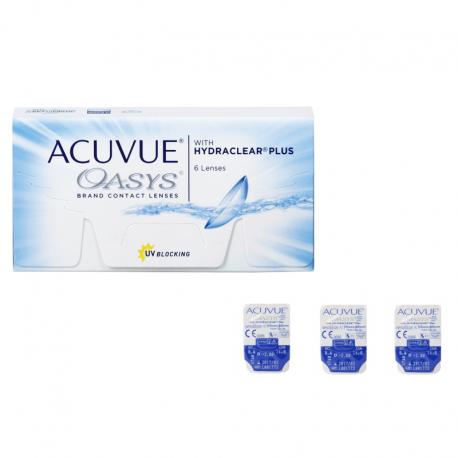 Soczewki kontaktowe Acuvue Oasys with Hydraclear Plus - 3 szt.