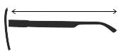 Długość zausznika okularów