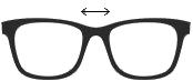 Szerokość mostka okularów