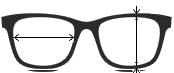 Szerokość soczewki, wysokość soczewki okularowej