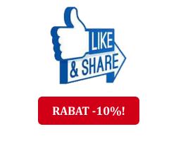 Polub nas na FB, udostępnij stronę - otrzymasz KOD RABATOWY na zakupy -10%